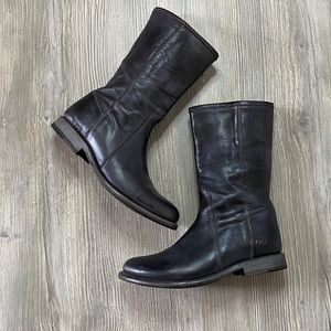Bed stu EUC short leather boots in black size 7